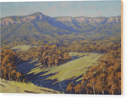 Afternoon Light Megalong Valley Wood Print by Graham Gercken