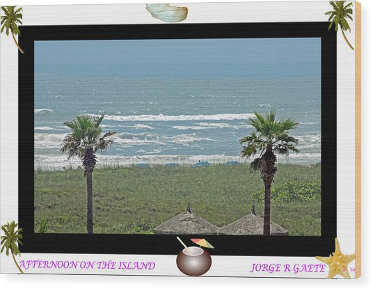 Afternoon On The Island A Poster Wood Print by Jorge Gaete