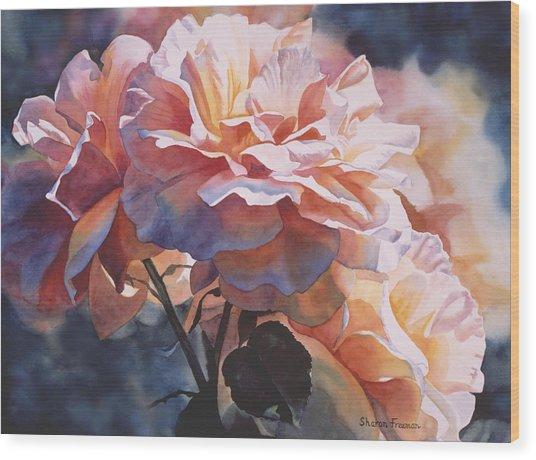 Afternoon Rose  Wood Print