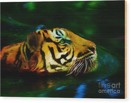 Afternoon Swim - Tiger Wood Print