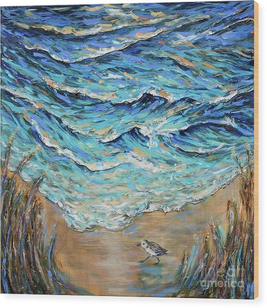 Afternoon Tide Wood Print