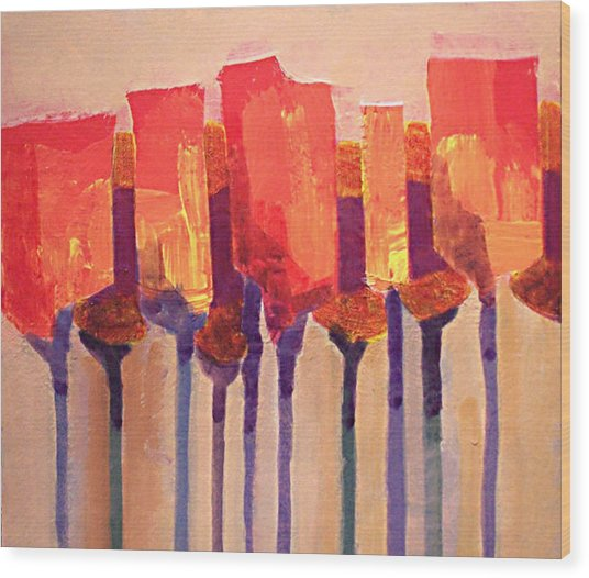 Afternoon Tulips Wood Print by Dalas  Klein