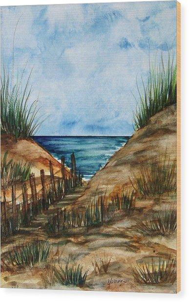 Afternoon Walk Wood Print by Yvonne Kinney