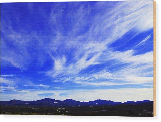Afton Sky And Mountains I Wood Print by Richard Singleton