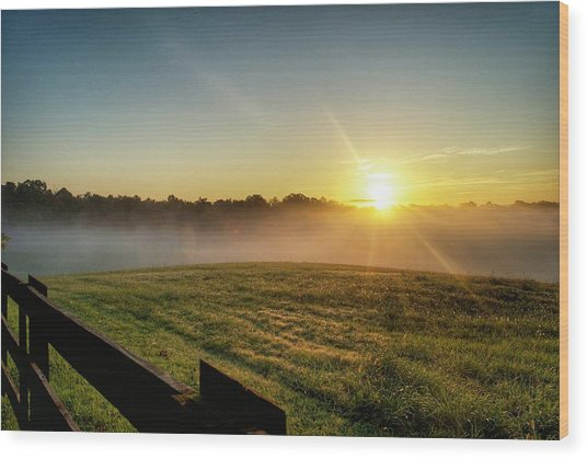 Afton Va Sunrise Wood Print