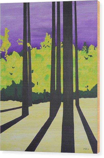 Against A Purple Sky Wood Print