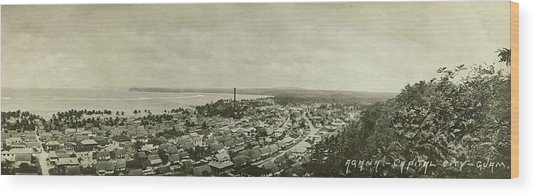 Agana Capital Of Guam Panorama Wood Print