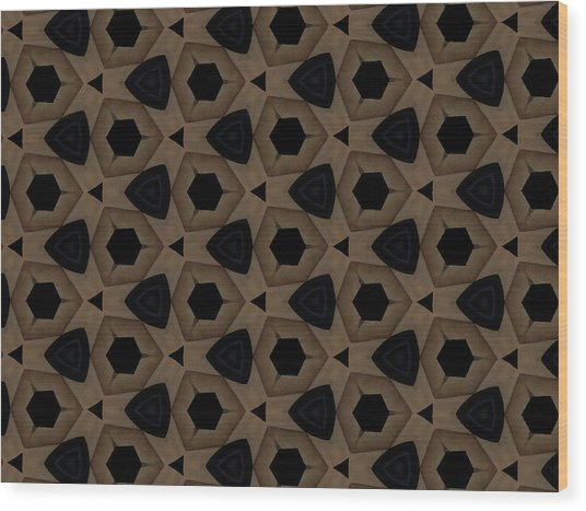 Agate Dimensions Wood Print