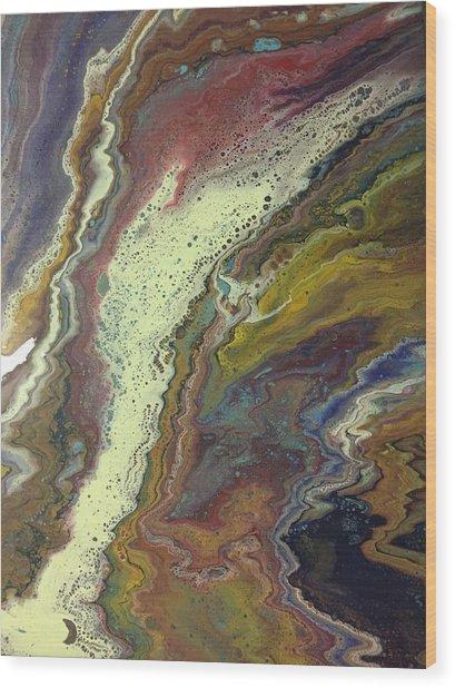 Agate Waterfall Wood Print
