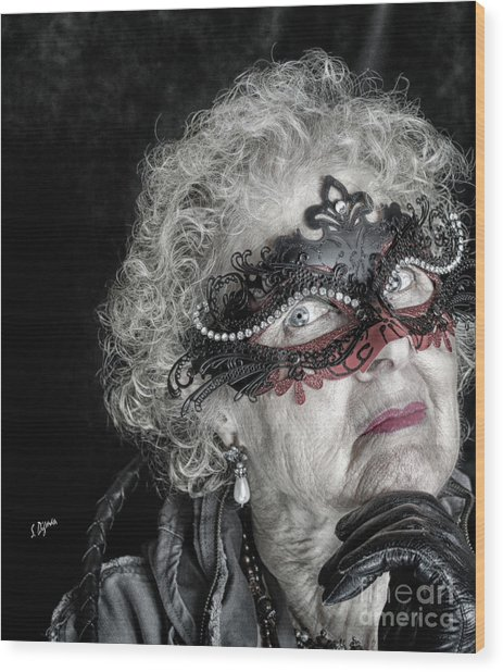 Age Is Not A Victim  Wood Print by Steven Digman