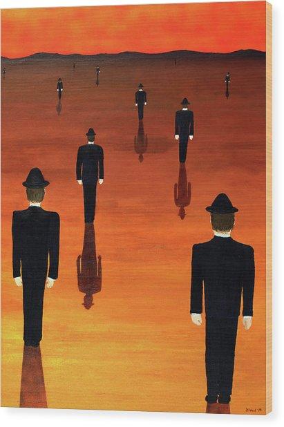 Agents Orange Wood Print