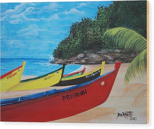 Aguadilla Crashboat Beach Wood Print