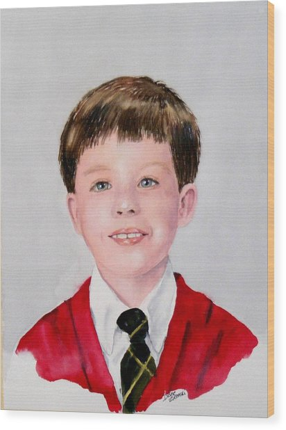 Aidan - Commissioned Portrait Wood Print