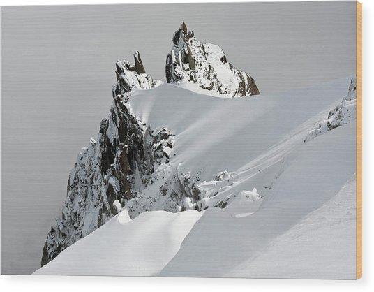 Aiguille Du Midi Wood Print