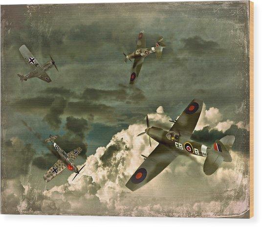Air Attack Wood Print