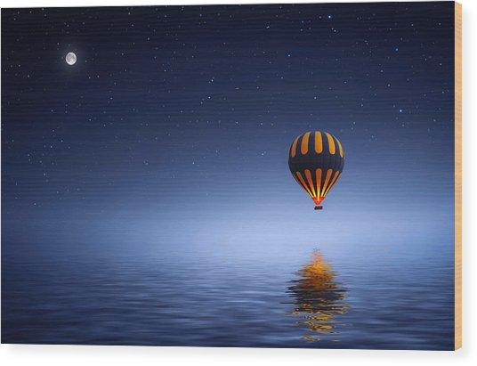Air Ballon Wood Print