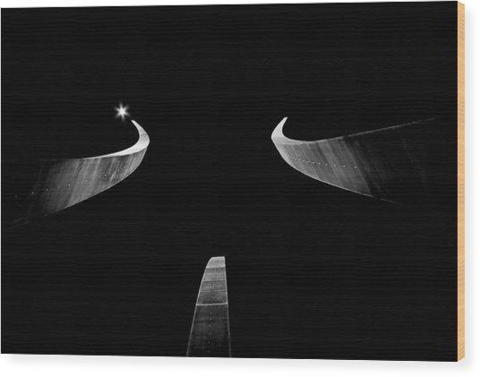 Air Force Monument Wood Print by Caroline Clark