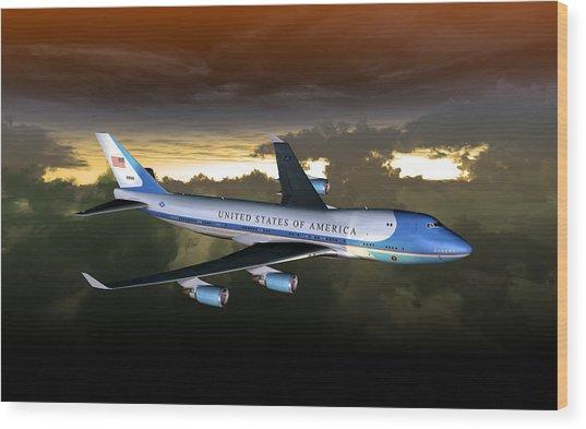 Air Force One 28.8x18 Wood Print