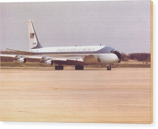 Air Force One At Andrews Air Force Base Wood Print