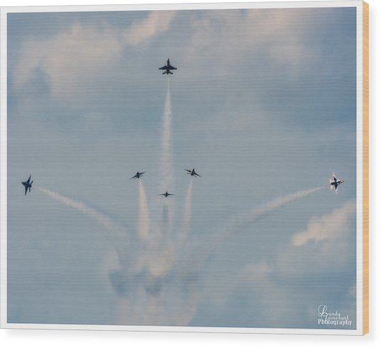 Air Force Thunderbirds Wood Print