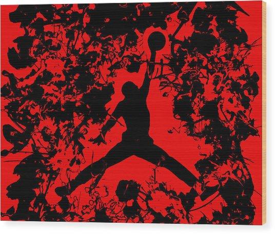 Air Jordan 1b Wood Print