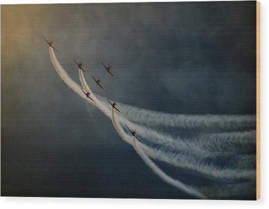 Air Show. Wood Print by Antonio Grambone
