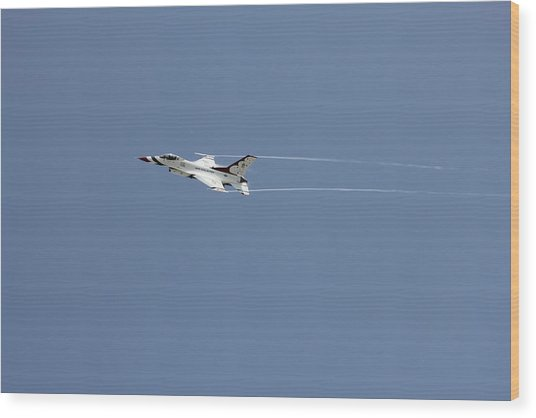 Air Show Wood Print by Michael Dillard