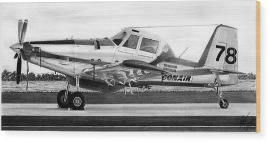 Air Tractor Wood Print by Lyle Brown