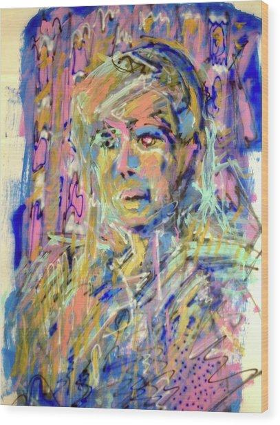 Airbrush 2 Wood Print