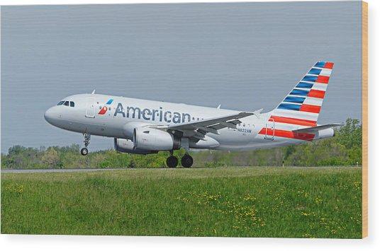 Airbus A319 Wood Print