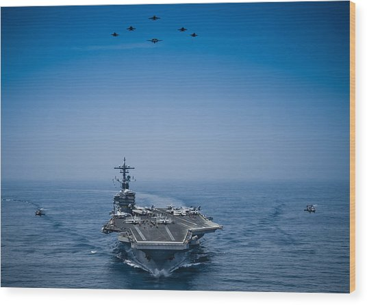 Aircraft From Carrier Air Wing Wood Print