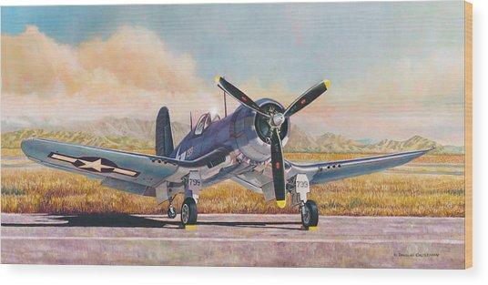 Airshow Corsair Wood Print