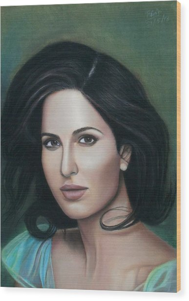 Katrina Kaif - The Wonder Wood Print