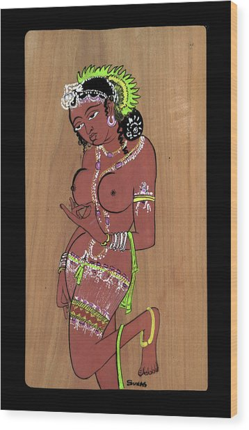 Ajanta Cave Beauty  Wood Print