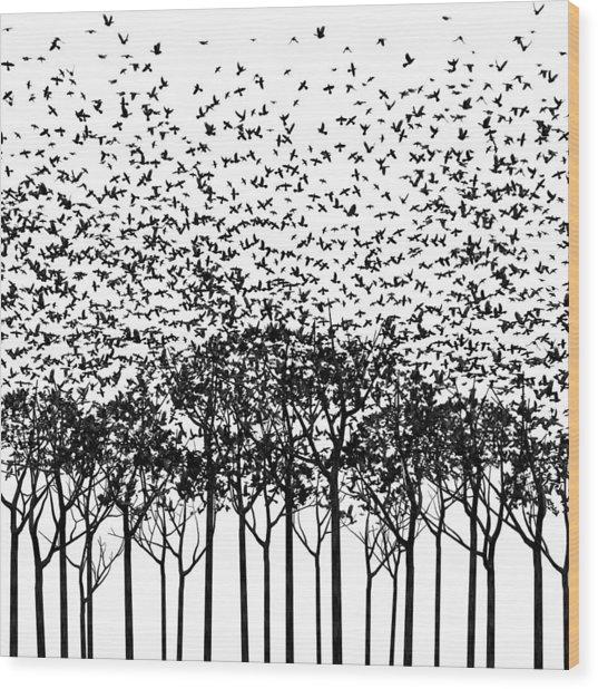 Aki Monochrome Wood Print