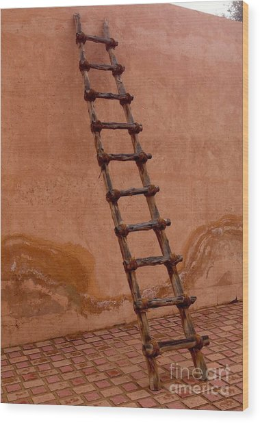 Al Ain Ladder Wood Print