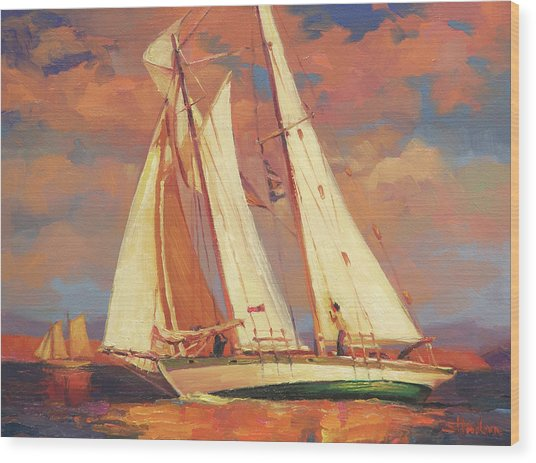 Al Fresco Wood Print