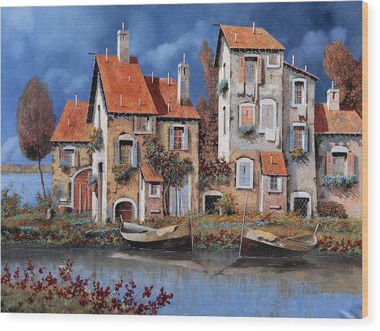 Al Lago Wood Print