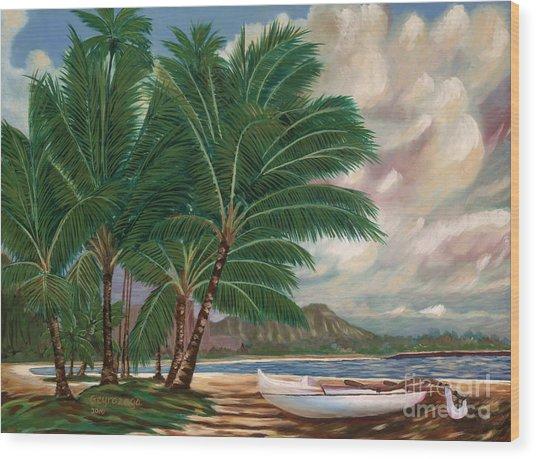 ala moana beach II Wood Print