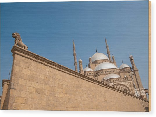 Alabaster Mosque From A Diagonal Perspective Wood Print