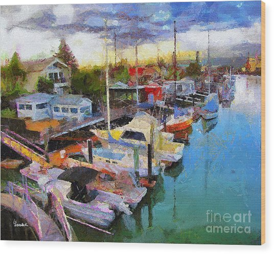 Alameda Life On The Estuary 2 Wood Print