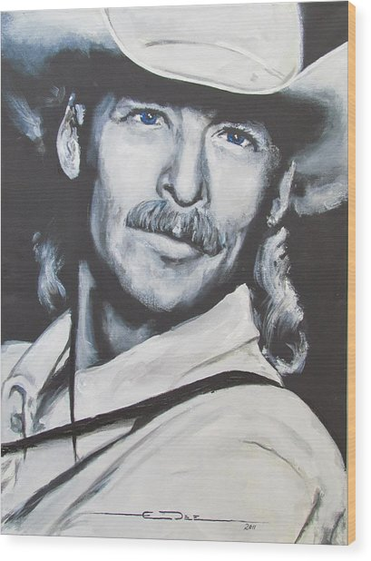 Alan Jackson - In The Real World Wood Print