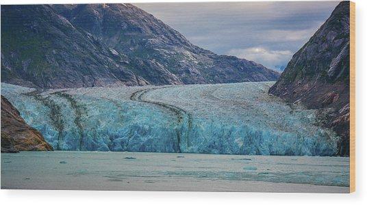 Alaska Glacier Wood Print