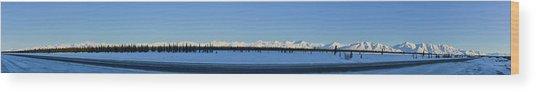 Alaska Highway Panorama Wood Print
