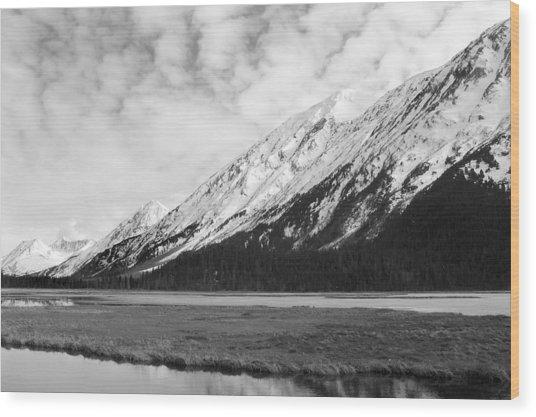 Alaska Mountains Wood Print by Ty Nichols