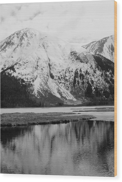 Alaska Reflection Wood Print by Ty Nichols