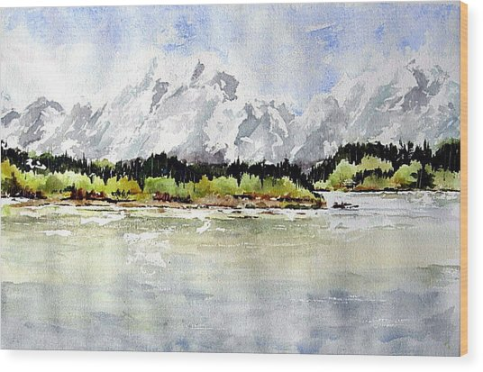Alaska Solitude Wood Print