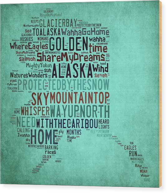 Alaska - Way Up North Wood Print