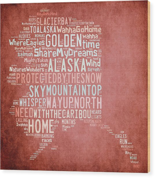 Alaska - Where Eagles Fly Wood Print