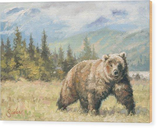 Alaskan Brownie Wood Print by Larry Seiler
